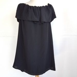 French Connection Tunic Dress Off the Shoulder L